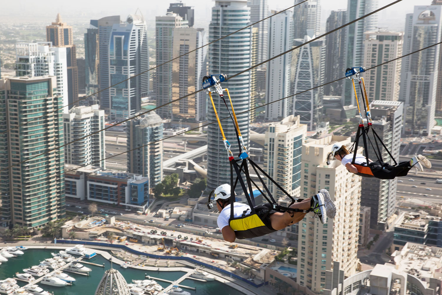 Ride The World S Longest Urban Zipline For Less Things To Do Time Out Dubai