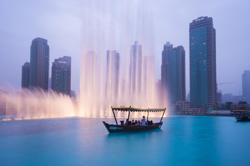 The fountains at Dubai Mall