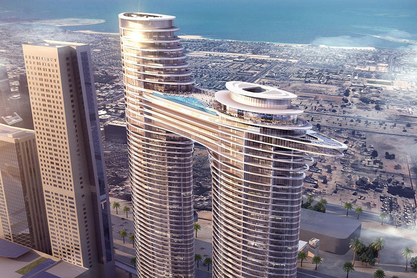 Top hotels in Downtown Dubai, Address Sky View
