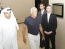 The fashion designer Giorgio Armani and Mohammed Alabbar, Emaar chairman arrive at the hotel.