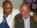 Quincy Jones and Buzz Aldrin