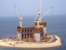 It took two years to reclaim the island in the shore waters of the Arabian Gulf, and another three years to build the structure.