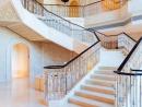 The lobby's grand stairway.