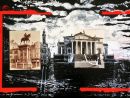 """ScénographieA photograph I took during the shooting of """"Don Giovanni"""" a film by Joseph Lose, paired with and an anonymous one taken in Venice in the late 19th century. Here the Palladio Rotunda has been relocated to a lake shore."""