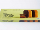 "Dark Chocolate, Lemon & Lime Jaffa Cakes""Golden sponge topped with a lemon and lime flavoured filling, half coated in dark chocolate."" Need we say more?Dhs9."