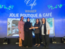 BEST CAFÉ WINNER: Jolie Boutique & CaféAs expected, the flower theme is strong at this cute, kitsch café in City Walk. A home-grown concept, this beautifully presented eatery boasts a foliage ceiling, a flower stall and delightful dishes, all of which come accompanied by a rose for you to take home. However, it's not all about the aesthetics, as charming as they are. Dishes are top-notch, too, from the avocado and halloumi on toast to the crêpes stuffed with chunky lobster meat. Oh, and don't miss the freshly baked cakes either. What a treat.  Open daily 9am-11pm. CIty Walk, Al Safa Street (050 170 5657).