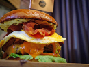 The Monster at Copper DogIt might be served up at Dubai's resident Scottish bar, though this one hails more from the US of A. The Monster composes a 400g beef patty, fried chicken, bacon, avocado, romaine lettuce, fried eggs, Portobello mushroom, tomatoes, jalapeños, sliced cheese, mustard mayo, Buffalo sauce and onion rings in a homemade burger bun, which sounds delicious, though you might need to eat it from a trough. Plus, wolf down the monster, a mountain of fries and a pint of cola in under 30 minutes and you'll get the burger for free. Sounds easy enough to us (ahem). Dhs199. Mondays 5pm-2am. DoubleTree by Hilton Hotel Dubai – Jumeirah Beach, JBR (04 5595355).