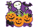 Dhs8Skeleton Pumpkin CutoutA colourful Halloween decoration to fix on the wall.www.mypartycentre.com