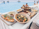 Do a beach brunch at Blue Marlin Ibiza UAEEnjoy chilled-out beats, delicious Mediterranean food and brunch on the beach at this cool beach club brunch every Saturday.Dhs350 (restaurant, beach & terrace, house beverages), Dhs580 (bubbly). Sat 1pm-11pm. Blue Marlin Ibiza UAE, Golden Tulip Al Jazira Hotels and Resort, Abu Dhabi, reservation@bluemarlinibiza-uae.com (056 113 3400).