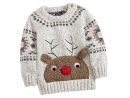 Dhs65 Rudolph jumperRudolp the red-nose reindeer has indeed gone down in history, on this adorable sweater.www.next.ae.