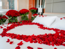 Valentine's Day hotel dealsHilton Dubai JumeirahIf you're love roses to the point you would love to see a room completely filled out with them, and have a spare Dhs7,999 lying around, Hilton Dubai Jumeirah has your Valentine's Day sorted. Offering a romantic suite filled with a staggering 1,000 roses all the way from Europe, could this be Dubai's most extravagant Valentine's Day deal yet? Possibly, as it also includes a candle-lit dinner on the beachDhs7,999. Fri Feb 14. Hilton Dubai Jumeirah, JBR (04 318 2999).