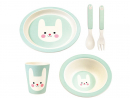 Dhs105 Rex London bamboo tablewearSupper has never looked so appetising. Hopefully this gorgeous bunny set will encourage them to eat their carrots – and all their other vegetables, too.www.justkidding-me.com