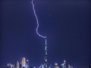 Another electrifying snap. So, lightning does strike twice...Credit: @dubaiangle