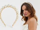 ASOS – Headband with graduating pearls in gold tone from ASOS, Dhs51