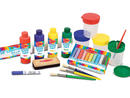 Melissa And Doug Easel Accessory Set Dhs199 This art supplies kit contains everything your little people need to create their own artistic masterpieces! There are bottles of vibrant poster paint, spill-proof paint cups, paintbrushes, a roll of easel paper, rainbow chalk and more.www.sprii.ae.