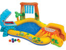 Intex Dinosaur Play Center Dhs144.38 With an inflatable pool featuring a small water slide, a wading pool to cool off in, a water sprayer and a super cute game, tiny dino fans will be able to have fun and keep cool.www.sprii.ae.