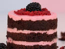 Baby Vimto Toot Cake, Dhs30 The popular Ramadan beverage has been recreated in a dessert form – a petite Vimto infused chocolate cake sponge in between layers of a Vimto infused white chocolate mousse and blackberry compote. Fork for one, please.