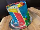 Bake: Multi-coloured vanilla cake Baker: Aiza Mae Cabanday