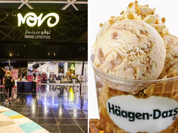 Free ice cream at Dubai's Novo Cinemas