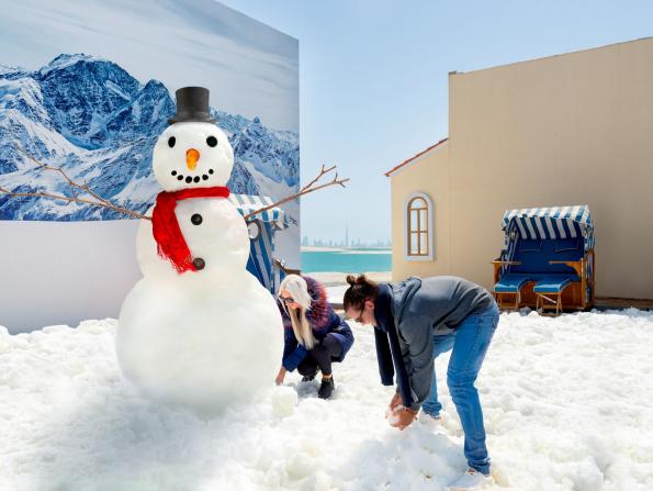 Dubai gets an actual snowman – in July