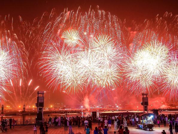 Dazzling fireworks at Dubai Festival City to celebrate Eid