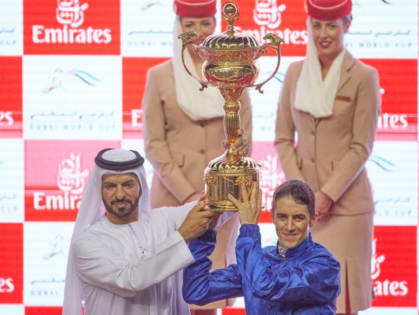 Dubai World Cup 2019: trophy presentation