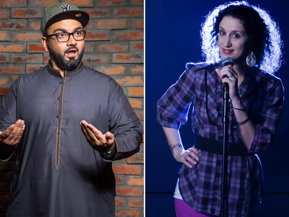 Comedians Ali Al Sayed and Mina Liccione to perform big variety show online this weekend