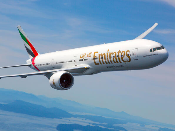 What countries is Dubai's Emirates Airlines flying to?