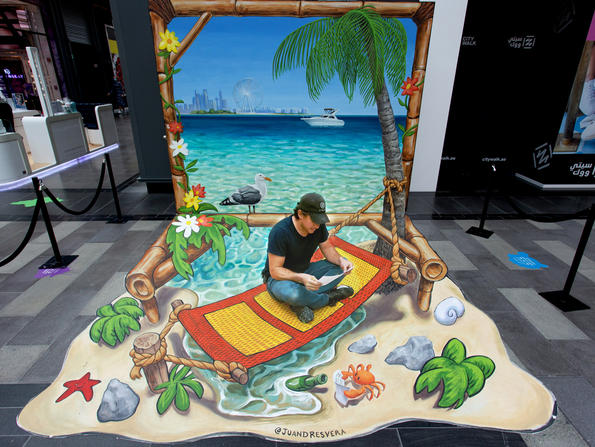 Check out a 3D art festival at Dubai's City Walk