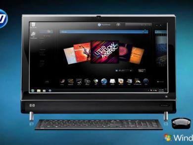 New HP TouchSmart PCs