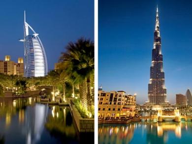 Burj Al Arab & Burj Khalifa