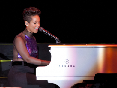 Alicia Keys at Dubai Media City