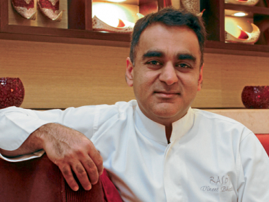 Vineet Bhatia (back) in Dubai