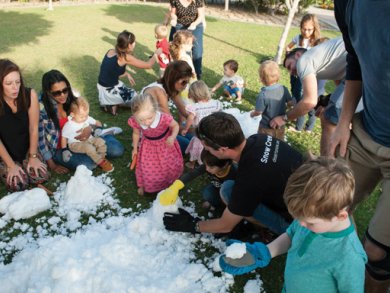 Celebrate with snow in July