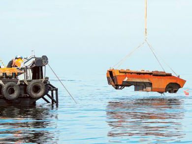 Dubai Police tanks and cars 'home to coral reef'