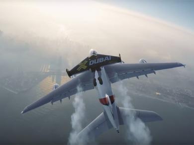 VIDEO: Jetman Dubai races Emirates Airline over Dubai