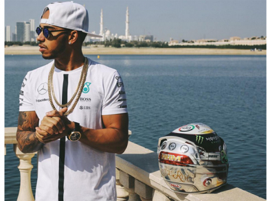 Lewis Hamilton sports National Day racing gear