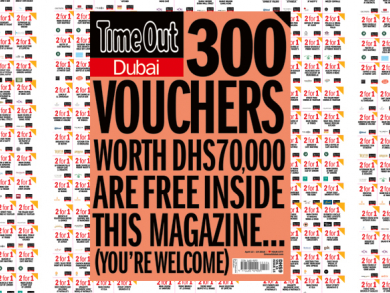 Time Out Dubai's massive voucher issue out now