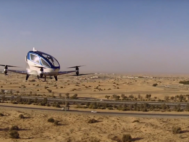 Watch – Dubai's self-flying taxis take to the skies