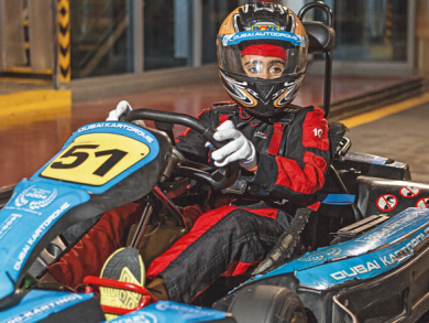When I grow up, I want to be a racing driver