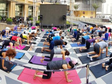 Free Friday morning yoga at Dubai Marina Mall