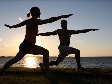 Five invigorating full moon yoga classes