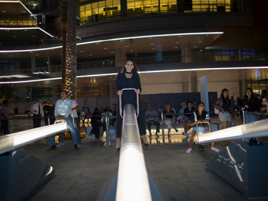 See-saw installation and new extension launch at The Dubai Mall