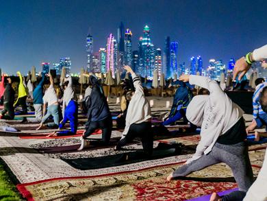 Full moon yoga classes in Dubai