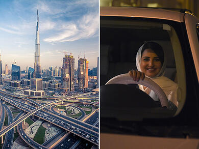 Where to visit in the UAE by road from Saudi Arabia