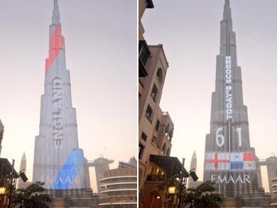 Burj Khalifa lights up to mark World Cup winners