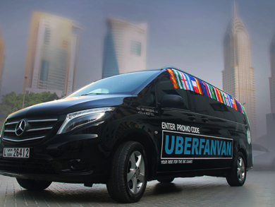 Uber launches UberFanVan featuring the World Cup