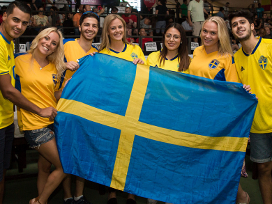 Sweden v England at The Irish Village – pictures