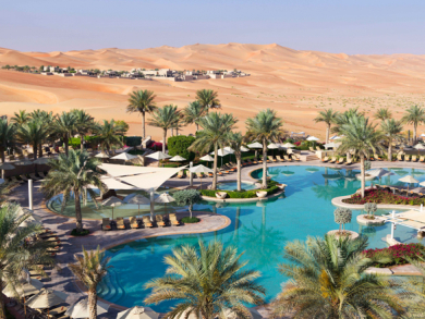 Stay in a secluded luxury desert villa for the day for Dhs895