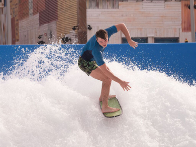 Learn to surf at Dubai's Laguna Waterpark